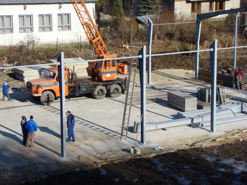 Výstavba skladu drevoštiepky