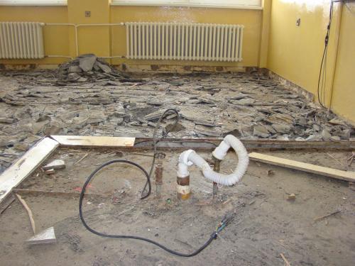 Oprava podlahy ZŠ 2016