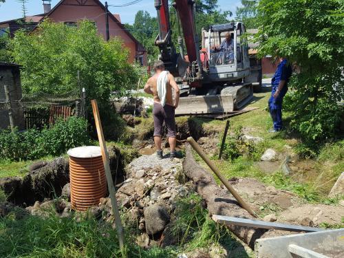 Kanalizácia ulice Do potoka 2019